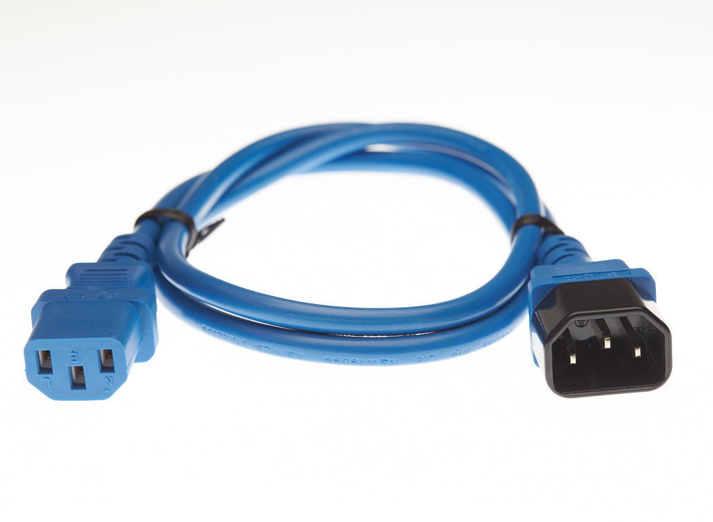 IEC C13 to C14 Power Cable Blue 0.5M