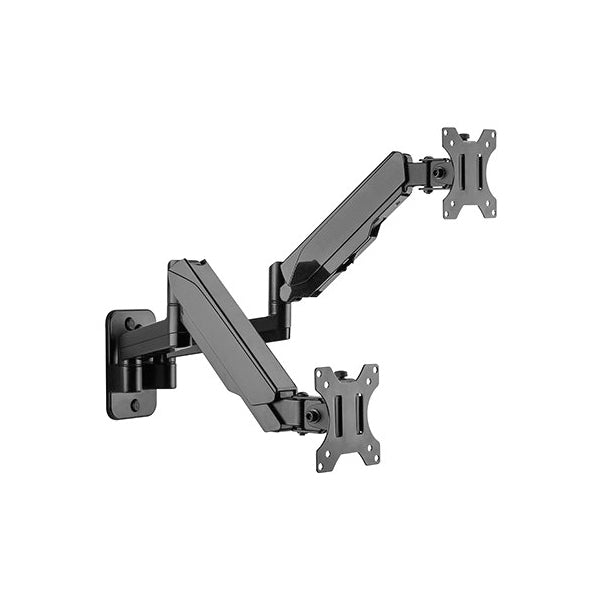 "4Cabling Dual Arm Wall Mount Gas Spring TV Bracket for 17"" to 32"""