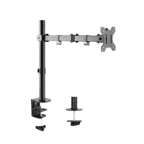 "Single Arm Double Joint Monitor Bracket. Supports up to 32"" Monitor"
