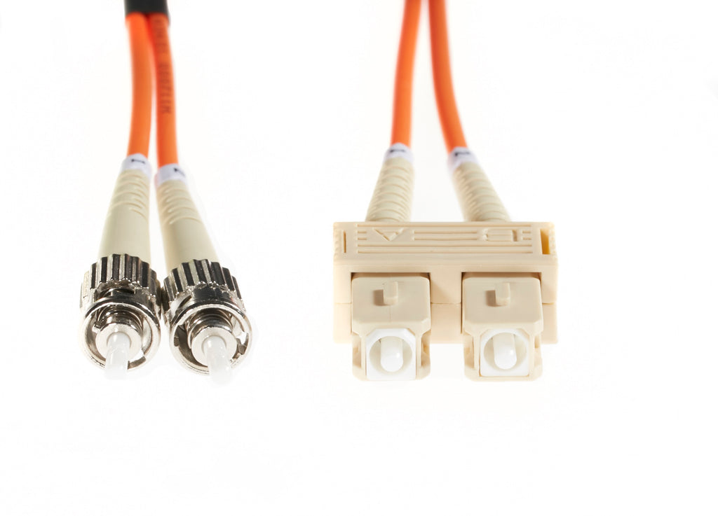 20m SC-ST OM1 Multimode Fibre Optic Cable: Orange