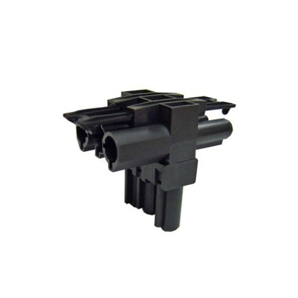 OE Elsafe: T Connector 1 Male / 2 Female Black