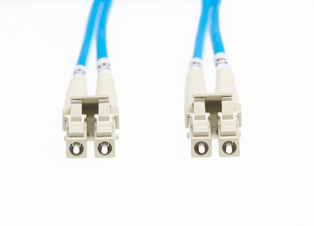 1m LC-LC OM4 Multimode Fibre Optic Cable: Blue