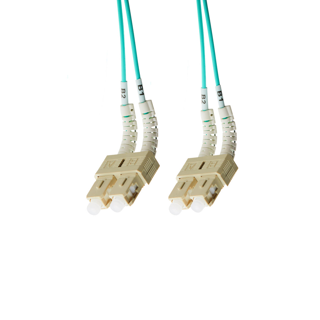 1m SC-SC Flexi Boot OM4 Multimode Fibre Optic Duplex Patch Leads