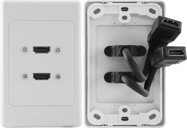 Double HDMI® Wall Plate with Dongle