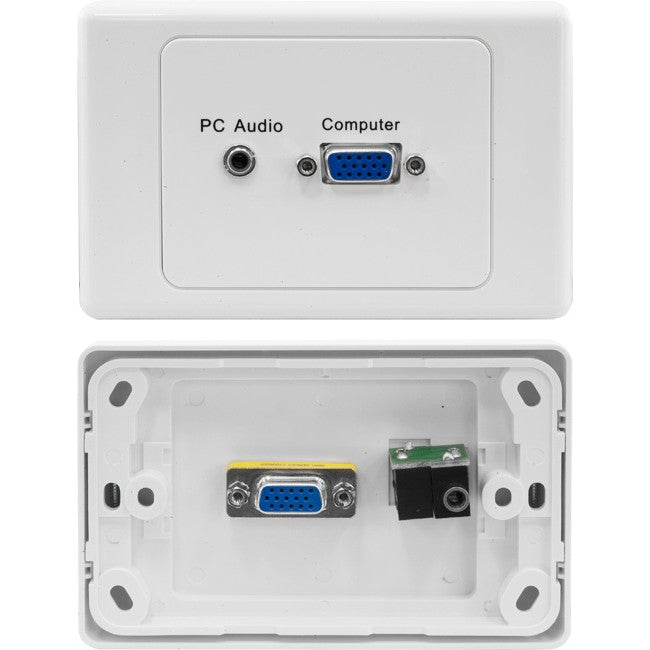 SVGA Wall Plate with 3.5mm Audio