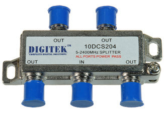 4 Way Splitter F Type 5-2400MHz All Ports Power Pass