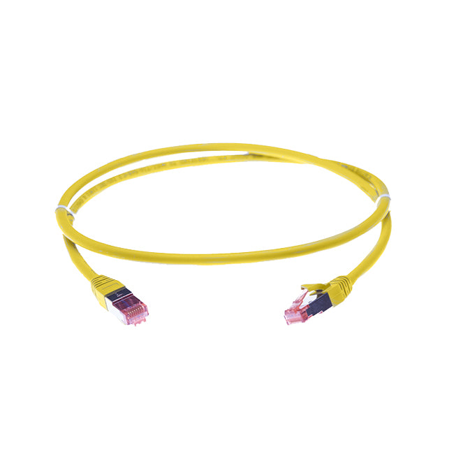 50m Cat 6A S/FTP LSZH Ethernet Network Cable. Yellow