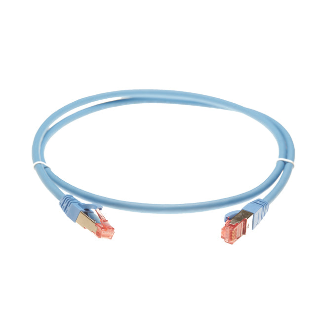 15m Cat 6A S/FTP LSZH Ethernet Network Cable. Blue