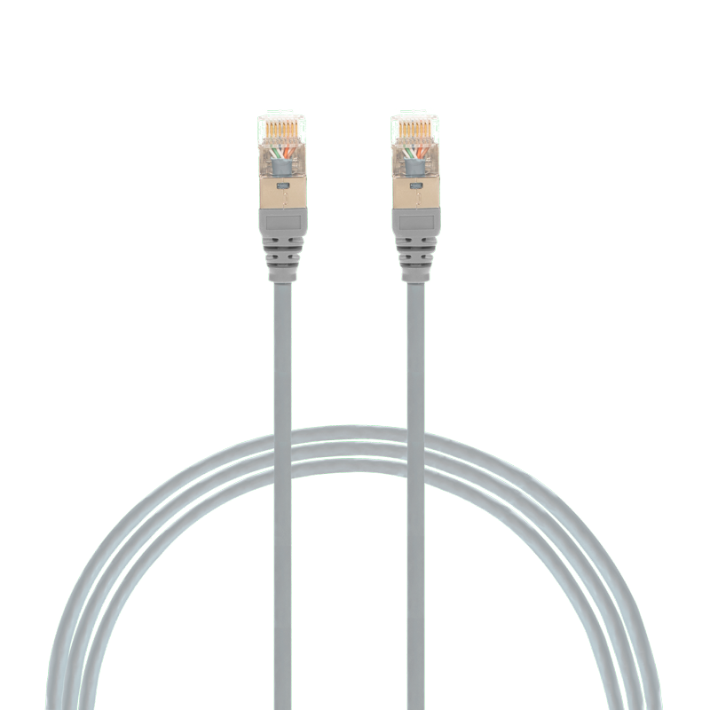 5m Cat 6A RJ45 S/FTP THIN LSZH 30 AWG Network Cable. Grey