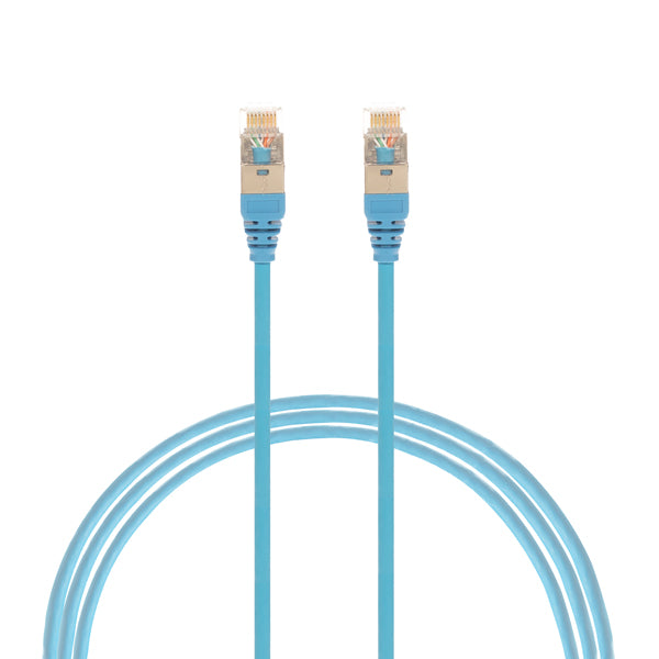 3m Cat 6A RJ45 S/FTP THIN LSZH 30 AWG Network Cable. Blue