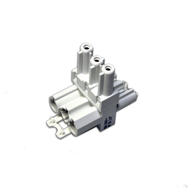 OE Elsafe: T Connector 1 Male / 2 Female - White