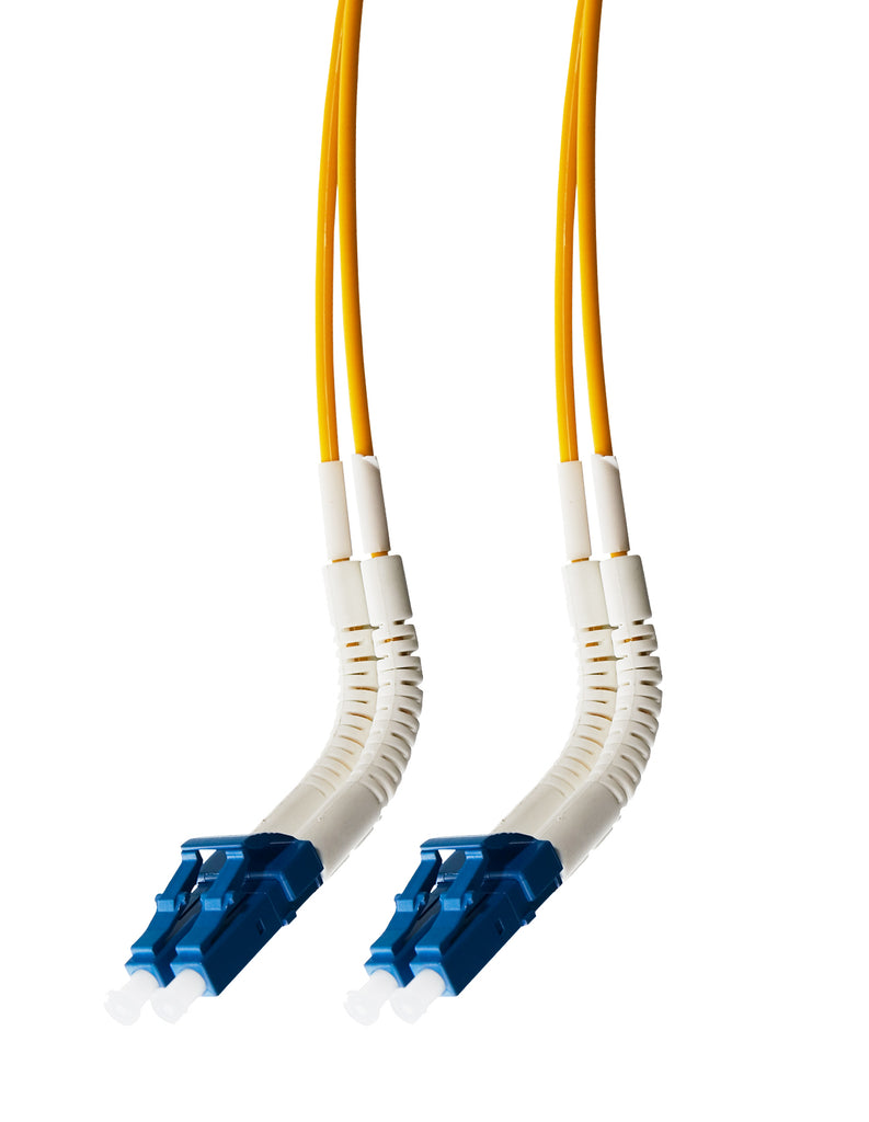 1m LC Flexi Boot - LC Flexi Boot OS1 / OS2 Singlemode Fibre Optic  Duplex Cable