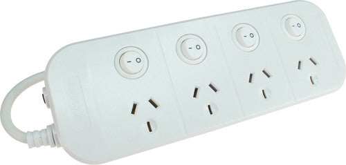 Jackson 4 Outlet Individually Switched Power Board