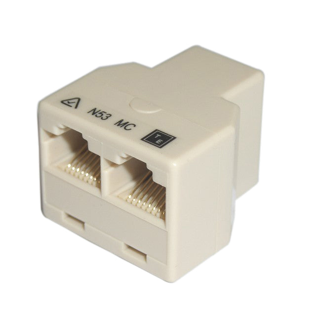 RJ45 Modular Coupler 3-Way Straight Thru 1 x RJ45 Female to 2 x RJ45 Female 8P8C