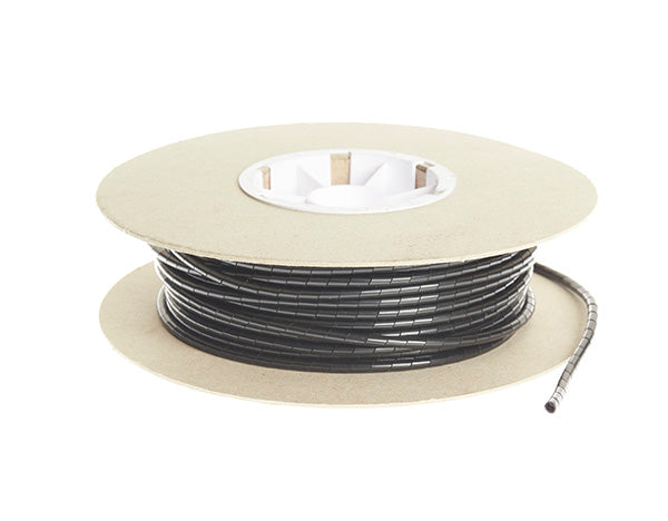 Spiral Binding Cable Wrap - 30.5m x 24mm: Black