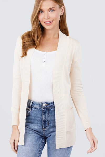 Ella Solid Pocket Cardigan