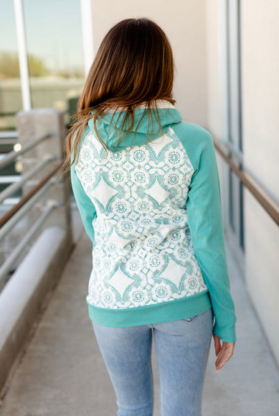 Ampersand Avenue DoubleHood: Turquoise and Lace