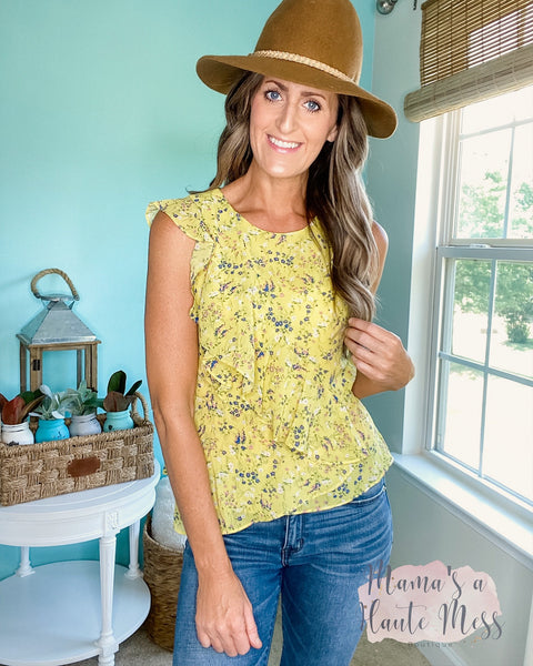 Olivia Floral Ruffle Blouse
