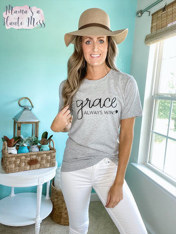 Grace Always Wins Graphic Tee