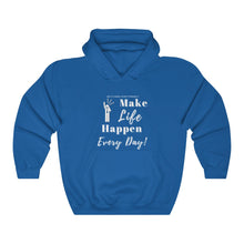 "Load image into Gallery viewer, Unisex ""Make LIFE Happen"" Heavy Blend™ Hooded Sweatshirt"
