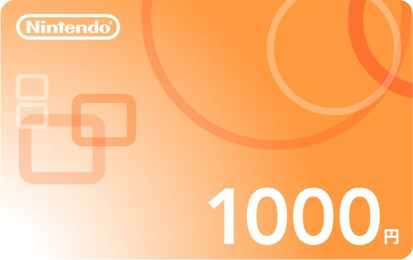 Japan Nintendo eShop 1000 Prepaid Point Card