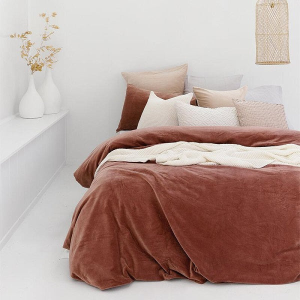 Emerson Quilt Cover Set Cayenne| Bedding