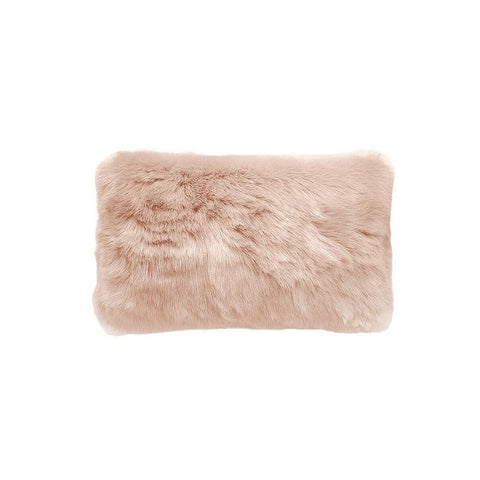 Plain Faux Fur Rectangular Nude | Cushion