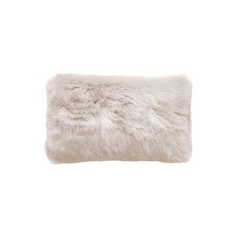Plain Faux Fur Rectangular Pebble | Cushion