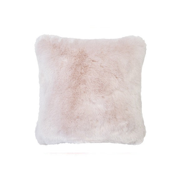 Plain Faux Fur Rosewater | Cushion