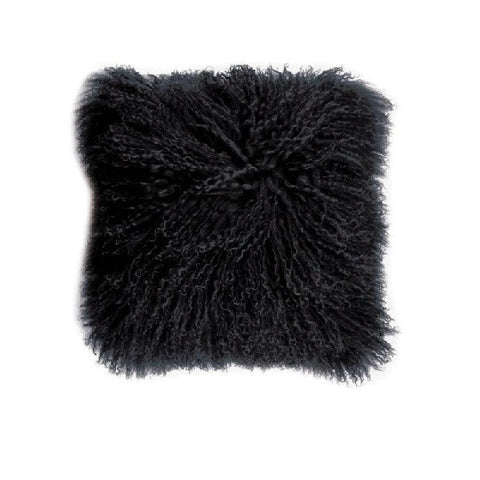 Mongolian Lambswool Black | Cushion