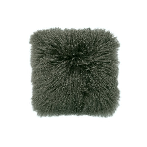 Mongolian Lambswool Olive | Cushion