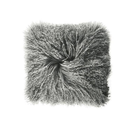 Mongolian Lambswool Grey | Cushion