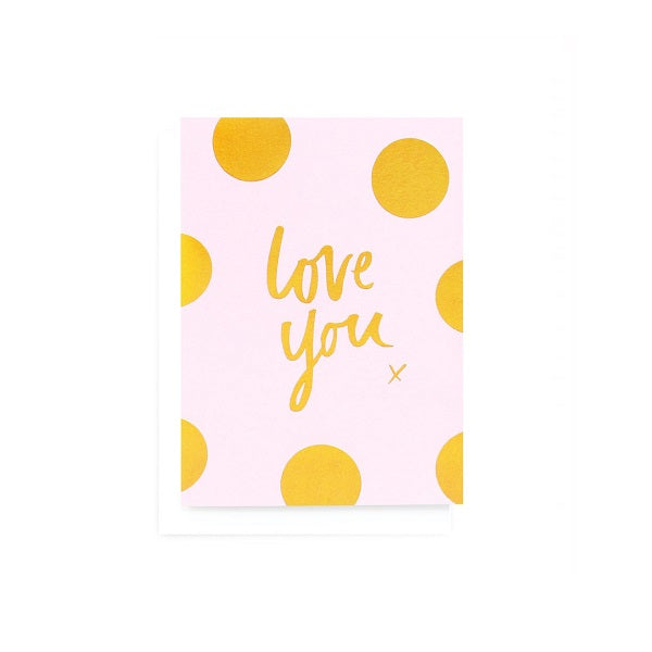 Love You Polka Greeting Card