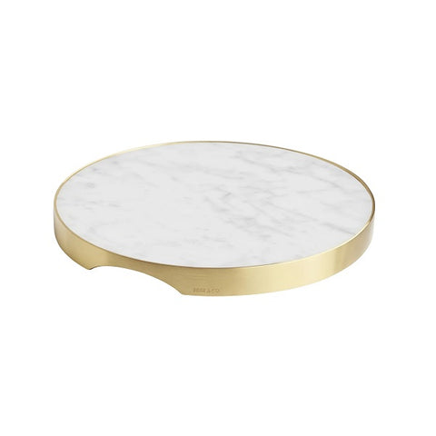 Behr & Co | GEO Grazing Board Round - Brass & Carrara