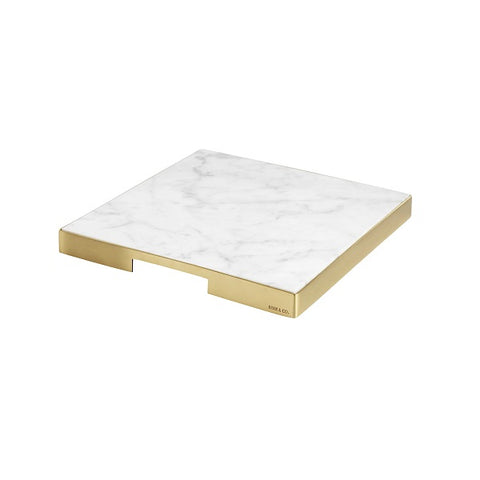 Behr & Co | GEO Grazing Board Square - Brass & Carrara