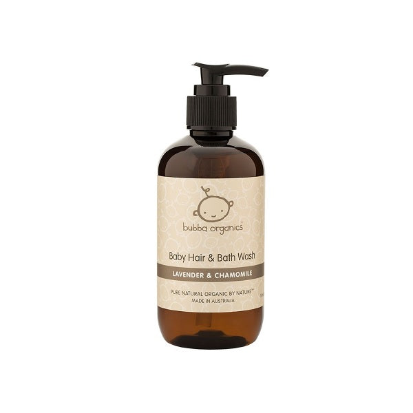 Bubba Organics | Lavender & Chamomile Baby Hair & Bath Wash 250ml