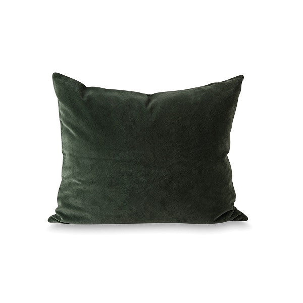 Citta Design | Cotton Velvet Cushion - Forest/Natural
