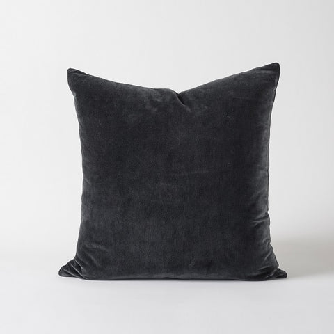 Citta Design | Cotton Velvet Cushion - Carbon