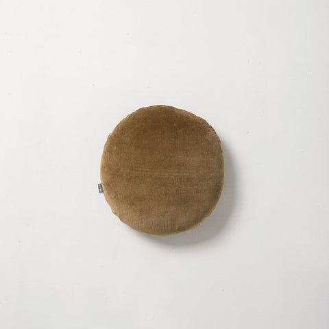 Citta Design | Cotton Velvet Round Cushion - Bronze