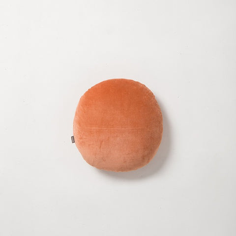 Citta Design | Cotton Velvet Round Cushion - Carrot