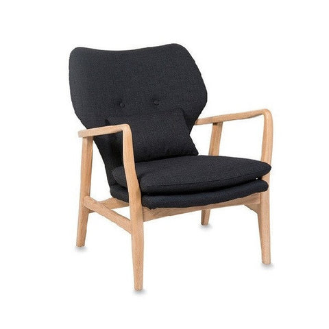 Black Fable Oak Arm Chair | Furniture
