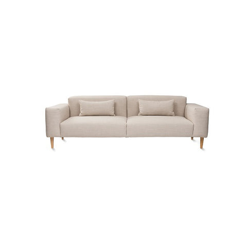 Citta Design | Hem Sofa 3 Seater Lea Limestone | Furniture