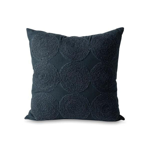 Citta Design | Luna Wool Embroidered Cushion - Graphite