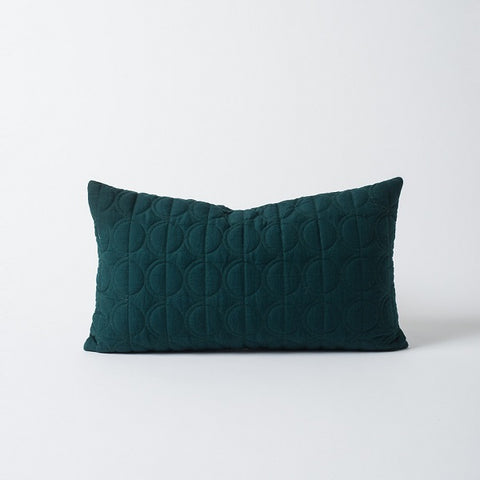 Citta Design | Moon Quilted Linen Cushion Forest