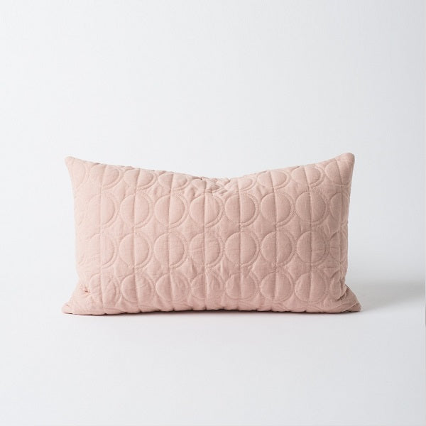 Citta Design | Moon Quilted Linen Cushion Peony