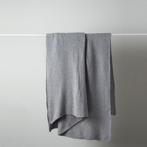 Citta Design | Moss Stitch Cotton Throw - Smoke