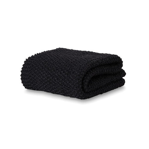 Citta Design | Moss Stitch Wool Throw - Carbon