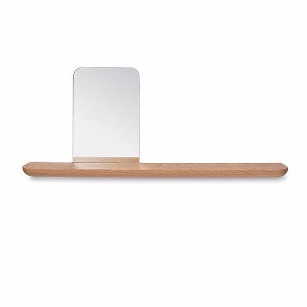Radial Floating Shelf With Face Mirror | Decor