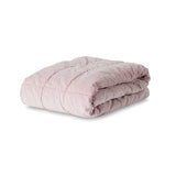 Citta Design | Wsashed Velvet Square Stitch Quilted Throw - Mushroom