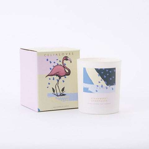 Celia Loves | Strawberry Champagne Candle Large